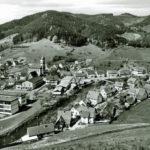 661 Oberwolfach Kirche um 1970 vom Müllerain her