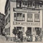 """668 Ehemaliges Gasthaus """"Lustiger Bruder"""" in Wolfach um 1930"""