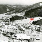 011 Ak Winterbild Ortsteil Kirche von Matten her 1962