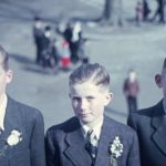 014 Schulentlassungsfoto mit von links Erwin Brüstle und Josef Vollmer um 1945