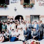 081 Ausflug des Kirchenchores mit u. a. Gottlieb Schule mit Ehefrau Frieda, geb. und Werner Grabsch mit Ehefrau Rita, geb. Rauber um 1960