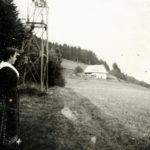 091 Schwarzenbruch Blick Haas (Haus der Familie Spinner) um 1930