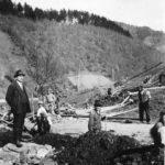 116 Wasserleitungsbau im Frohnbach mit Bürgermeister Bächle um 1930