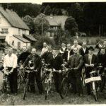 118 Radausflug der Musiker um 1965