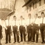156 Fasnetsmusiker um 1930 mit Gottfried Haas und Hermann Bonath