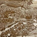 246 Ausblick vom Müllerrain auf das Dorf um 1940