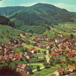 307 Ak Oberwolfach Ortsteil Kirche um 1970