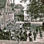325 Drittes Reich Verabschiedung eines Pfarrherren oder Politikers auf dem Lindenplatz um 1935