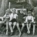 391 Bänkle bei Geigers auf Grünach um 1948