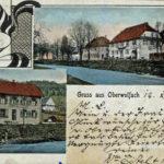 408 AK Wolfach mit Kaufhaus Welle und Schulhaus um 1930