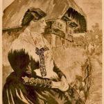 441 Künstlerkarte Wolftäler Tracht