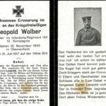 455a Leopold Wolber vom Harzbühl - Gefallener im Ersten Weltkrieg