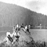489 Bild auf Glasplatte um 1930 Glaswaldsee