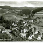 505 AK Schapbach-Dorf mit Kirche um 1930