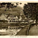 AK Wolfach um 1930 Blick auf die Kinzig und die Häuser am Damm