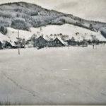 543 Winterlicher Grünach um 1960
