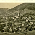 565 Blick vom Müllerrain auf den Ortsteil Kirche um 1950