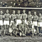 Fußballer des FC Wolfach mit Oberwolfachern um 1948
