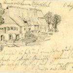 591 Ak mit Zeichnung von 1899