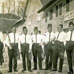 605 Fasnetsmusikanten der Oberwolfacher Musikkapelle um 1930