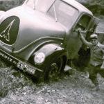 610 Tiefbauunternehmer Alfred Bonath mit dem verunglückten Magirus um 1965