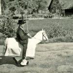 """622 """"Festreiter"""" Bruno Hämmerling bei allen Festzügen und auch bei der Fasnet in den Jahren um 1950 bis in die siebziger Jahre"""