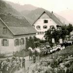 624 Glockenweihe im Ortstel Kirche um 1950 (Foto von Wilhelm Roth)