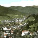 628 Ansichtskarte Wolfach mit Blickrichtung Oberwolfach